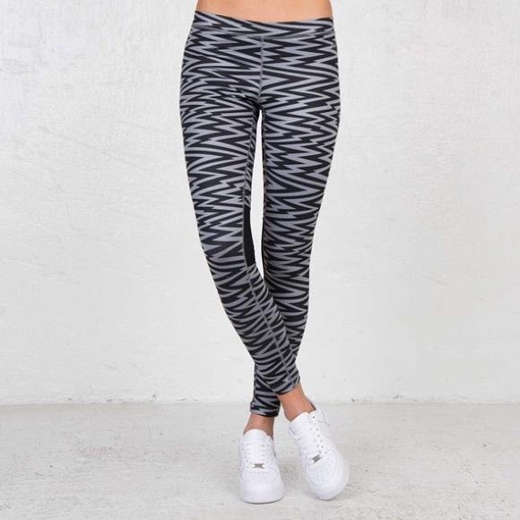 02d536edb3467b Nike Pants | Womens Workout Leggings Grey Black Medium | Poshmark